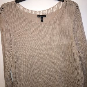 Eileen Fisher Tan Layered Sweater